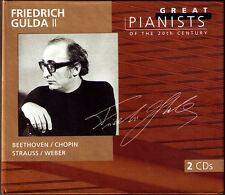 Friedrich Gulda 2: Great Pianists of the 20th Century 2cd Beethoven Chopin Weber
