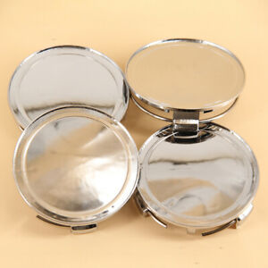 4Pcs 76mm Replacement Wheel Center Caps Covers For Universal Car Chrome Silver
