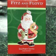 New ListingFitz and Floyd Southern Santa Ornament dated 2013