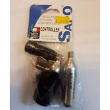 Sapo CO2 Controlador Kit con 2 cartuchos y cubierta de cartucho de neopreno