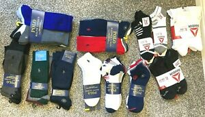 Polo Ralph Lauren bear Sport Socks L 6-12 & XL 11-17  Reebok performance dress