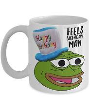 "Pepe The Frog Mug ""Happy Birthday Mug Feels Birthday Man Pepe Mug"" Feels Bad Man"