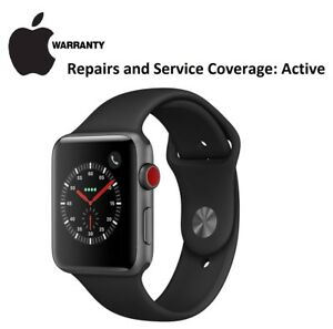 Apple Smart Watch Series 3 GPS 42 mm Space Grey Warranty Until May 15, 2019