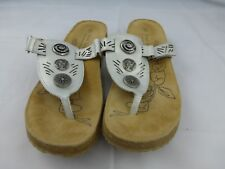 Josef Seibel, Silver Leather Sandals, Size 41 (9.5-10 US) New