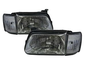 TT Fortigo 98-02 Pickup 4D Clear W/ Corner Lamp Headlight Chrome for ISUZU LHD