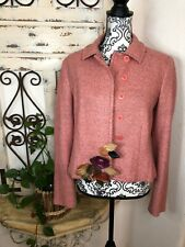 Moschino pink wool blend blazer w/floral detail Size 14