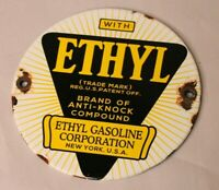 ETHYL Gasoline Oil Vintage Style Porcelain Signs Gas Pump Man Cave Station 5''