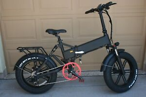 Fat Tire Electric Folding Ebike Bicycle 750 W Samsung Battery Hydraulic Brakes