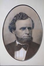 Incredible 19th Century c.1870 Photorealistic Charcoal Portrait Of A Gentleman