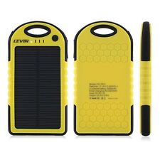 Solar Power Bank Phone Charger iPhone iPod Android iPad Windows Portable 5000mAh