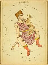 PAINTINGS DRAWING STAR MAP AURIGA CONSTELLATION ART POSTER PRINT LV3126
