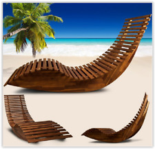 Outdoor Rocking Chair Garden Furniture Wooden Sun Bed Lounger Patio Day Relax