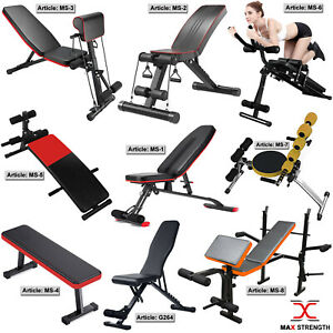 Adjustable Weight Bench Incline Decline Gym Exercise Training Fitness Workout