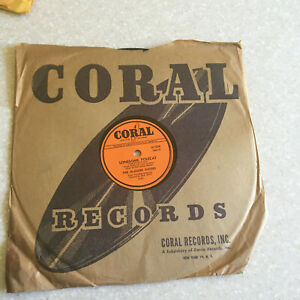 78 rpm Record McGuire Sisters LONESOME POLECAT Uno Due Tre CORAL Jukebox 54'