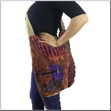 Bunte Patchwork Stoff Tasche Nepal Hippie Vintage Goa Peace Used Look Indien Aum
