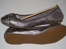 SPERRY Top Sider Elise Pewter Metallic Flats Women's Size 6 M