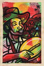 CUBAN LIFE Original Art Painting Acrylic Canvas LEONARDO RUBIO BRIDON  R11
