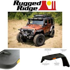 Rugged Ridge HURRICANE FLAT FENDER FLARE SET JEEP WRANGLER JK 07-17 SMOOTH BLACK
