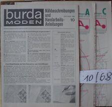 Pour BURDA MAGAZINE 68/10 seulement Coupe Arcs + travail manuel 60er J 1968