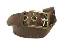 G157 Conley´s Damen Gürtel dickes Leder braun 85 cm Jeansgürtel Hosengürtel
