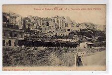 1910ca Marino - Roma - interno della stazione col treno e ferrovia