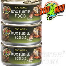 3 Pack Zoo Menu Canned Box Turtle Food 6oz Wet Corn/Apple Food