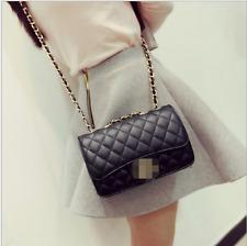 Women Quilted Chain Bag Pu  Leather Shoulder Crossbody handbag Messenger