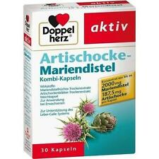 DOPPELHERZ Artischocke+Mariendistel Kapseln 30 St PZN 4044715