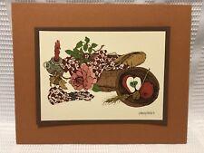 1975 Wendy Wheeler-Fruit/Flower/Bread Basket/Candle-Art Print (8 In. X 10 In.)