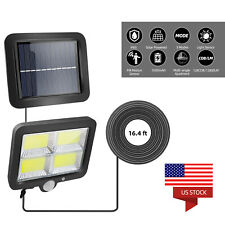 Outdoor 128 COB LED Solar Powered PIR Motion Sensor Light Waterproof Yard Lamp