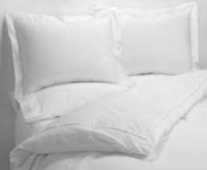 Egyptian 100% Cotton Plain White 200 Thread Count Plain Soft Bed Linen All sizes