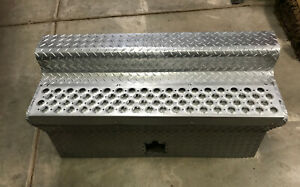 KENWORTH 40 inch Battery Tool Box Polished Aluminum Cover Lid