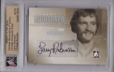 MONTREAL CANADIENS 2006-07 ITG LARRY ROBINSON ULTIMATE AUTOGRAPH SILVER #'D /50