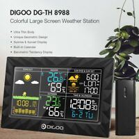 DIGOO HD LCD Colorful Weather Station + Outdoor Humidity Sensor Thermometer