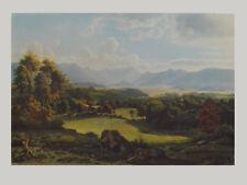 Adalbert Waagen Kunstdruck Poster Bild seltener Lichtdruck Im Loisachtal 70x100