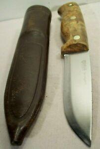 2010~HELLE TEMAGAMI~NORWAY~LES STROUD~PUUKO BURLWOOD HUNTING KNIFE & SHEATH~
