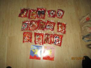 2021 MCDONLDS TY TEENIE BEANIE BABY BOOS SET WITH BONUS 2 POKEMON WITH 8 CARDS