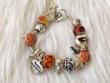 halloween charm bracelet EUC October Fall Jewelry Fashion Costume Accessory girl