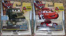 2 Disney Cars Road Trip Lightning McQueen Sarge Lot Brand New
