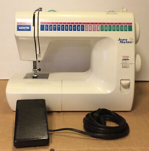 White Jeans Machine Model 1977 Sewing Machine With Foot Pedal Heavy Duty