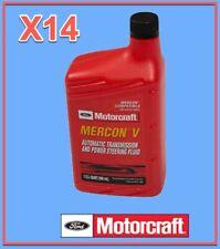 14 Qt. Genuine FORD Auto. Trans. & Power Steer Fluid Motorcraft XT5QMC MERCON V