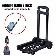 Lightweight Folding Hand Truck Portable Luggage Cart with 4 Wheels 25KG Capacity