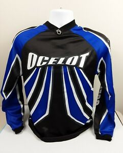 Ocelot Racing Long Sleeve Shirt Black Blue Grey SMALL ~ FREE SHIPPING