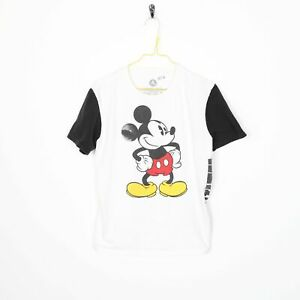 Vintage DISNEY Micky Mouse T Shirt Tee White | Small S