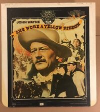 UA RCA CED VideoDisc: She Wore a Yellow Ribbon - John Wayne 1949 (Used)