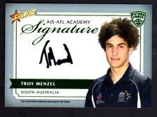2012 AFL Select Future Force AIS-AFL Academy Signature Card Troy Menzel  #133