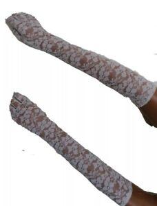 Sexy lange Spitzenhandschuhe  Weiß Spitze Handschuhe lang