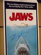 JAWS Original AUTHENTIC 1975 VINTAGE Insert Movie Poster Signed Steven Spielberg
