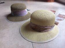 lot de 2 chapeaux en paille