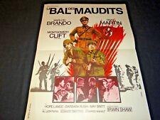 marlon brando LE BAL DES MAUDITS ! dean martin m clift affiche cinema 1958